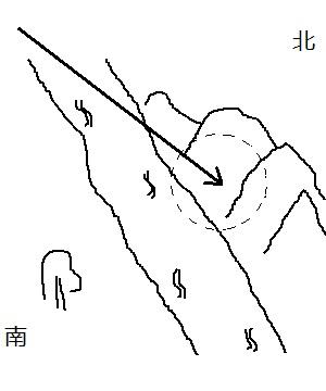 手绘山阳风景简笔画